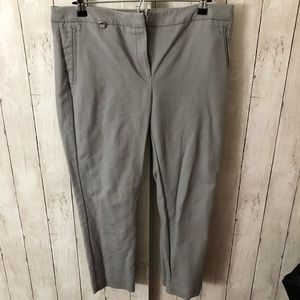 Silver/gray ankle pants size 12